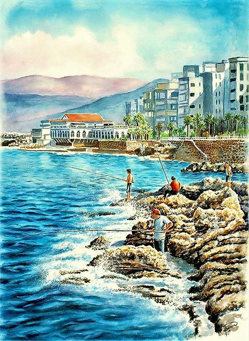 Ain el-Mreisse, Fishermen