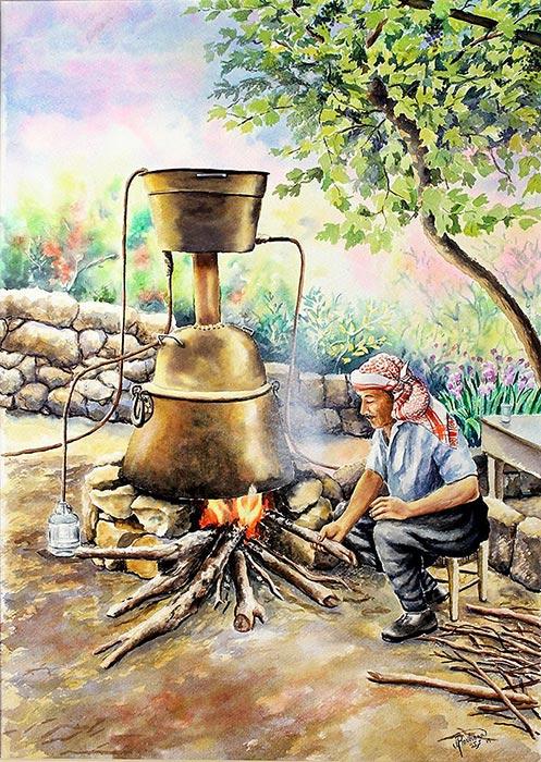 Preparing Arak in Karake