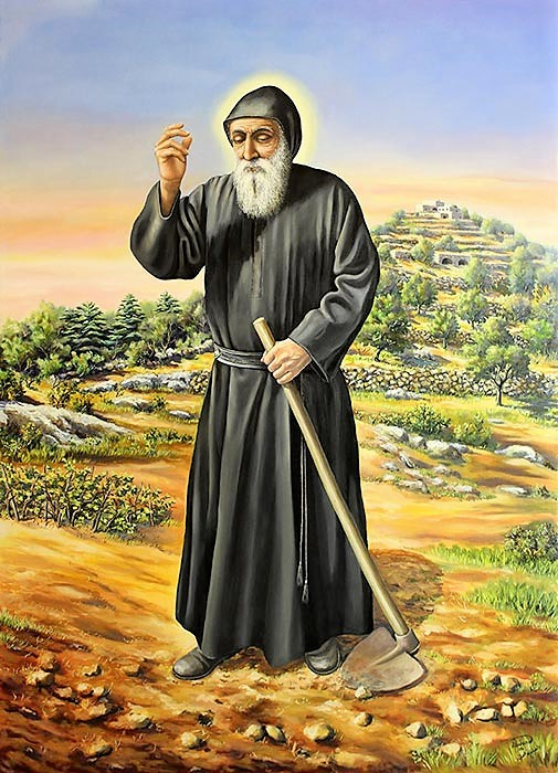Saint Charbel daily praying and working