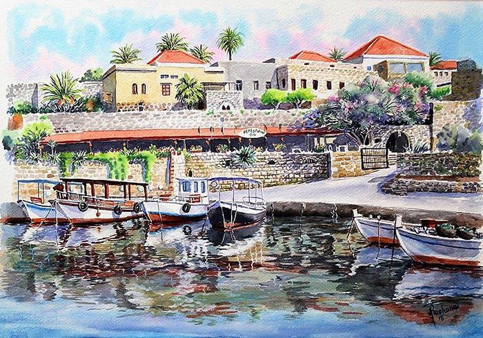 Byblos Harbor - Art print