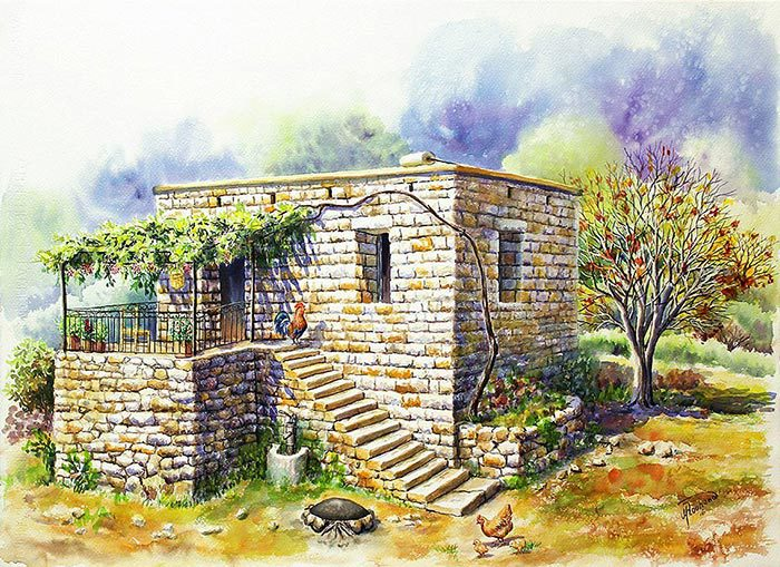 Old stone house in the country