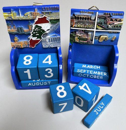 Perpetual souvenir calendar from Lebanon.