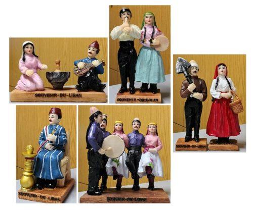 Lebanese folklore statuettes