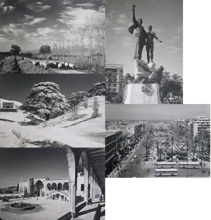 Lebanon old sepia postcards