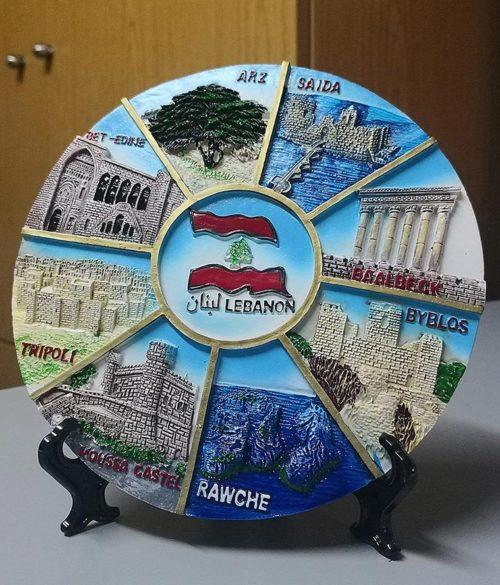 Decorative ceramic dish souvenir