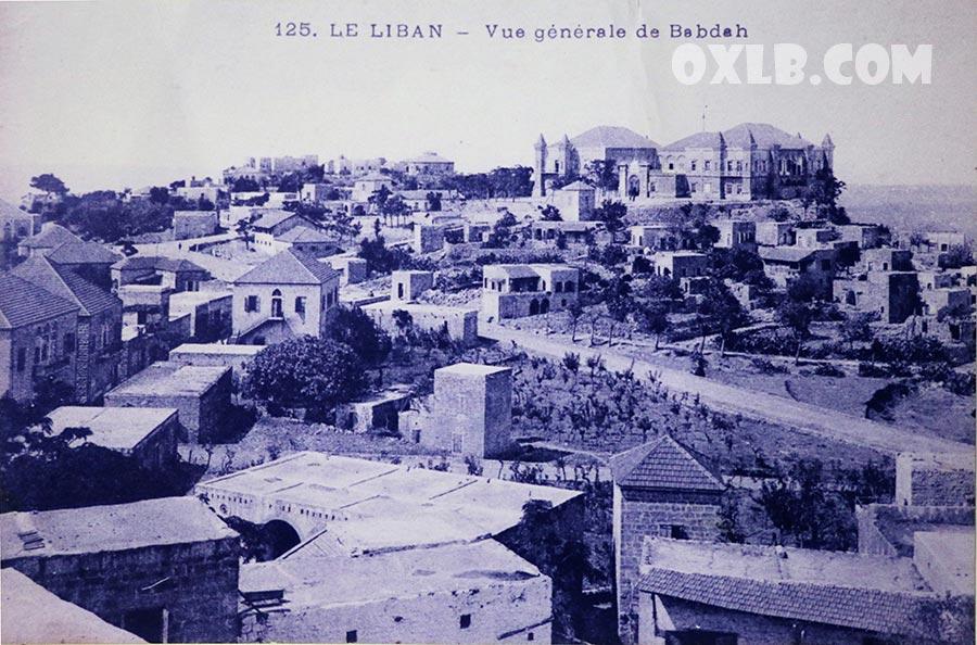 General view Baabda 1920