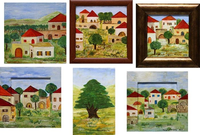 Original miniature art paintings