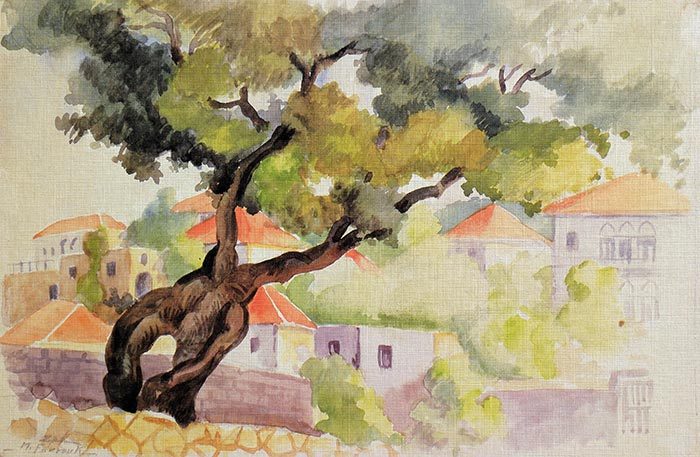 Oak Tree, Lebanon - 1947