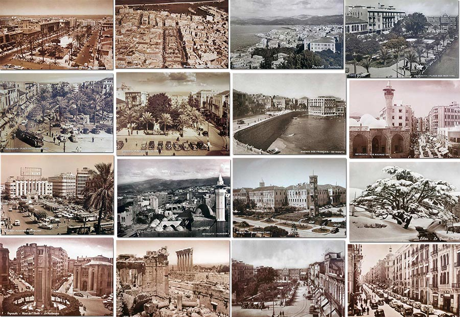 Old sepia posters from Lebanon