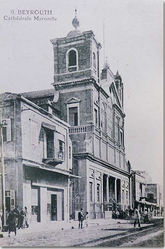 Beyrouth, Cathédrale Maronite - 1920