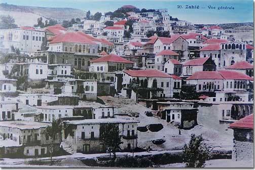 Zahlé, Vue Générale - 1920