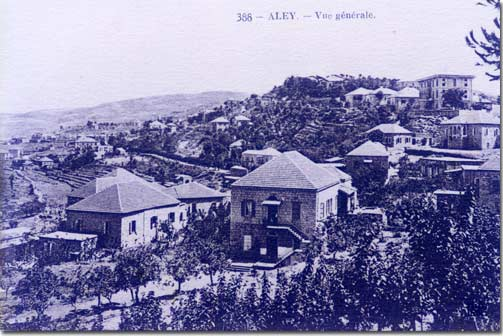 Mount Lebanon Aley General view 1915