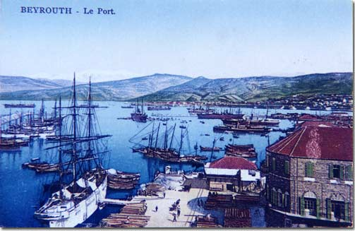 Beyrouth Le Port, Beirut the Harbor - 1920
