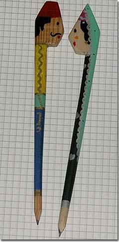 Pencil pen - Lebanese character