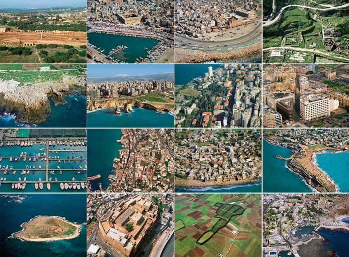 Postcards Lebanon aerial sky views