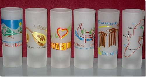 Printed frosted shooter glasses