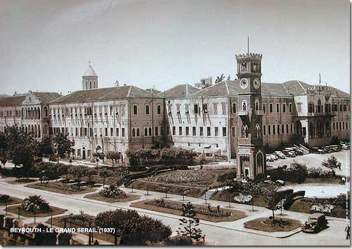 Beirut - The Grand Serail (1937) - Lebanese poster in Sepia