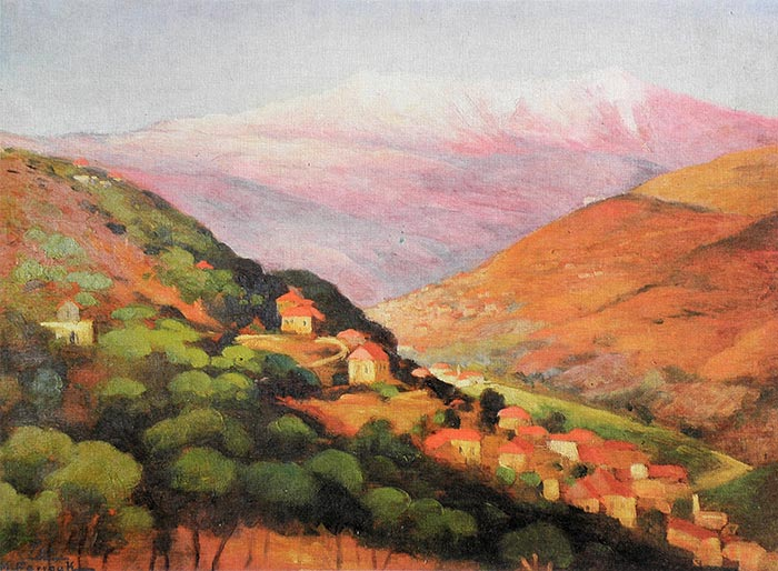 Village in Mount Lebanon - 1945