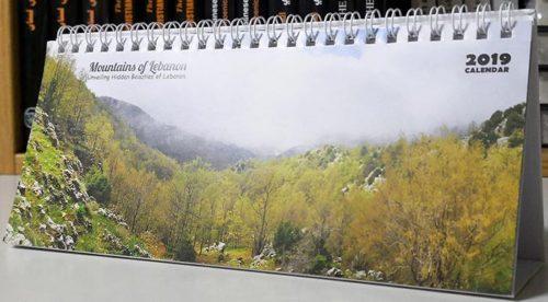 Desk paper calendar 2019