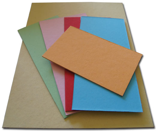 Colored carton board