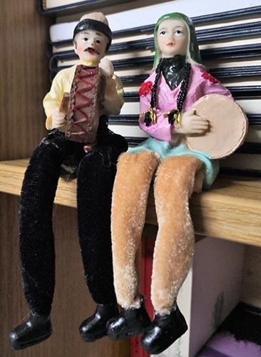decorative statuette dolls