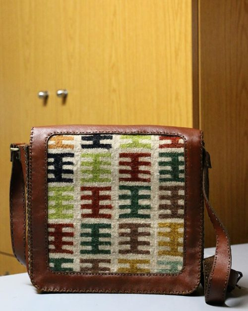 Leather handbags tapestry