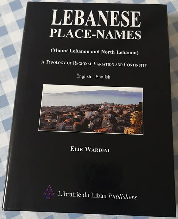 Book Lebanese place names