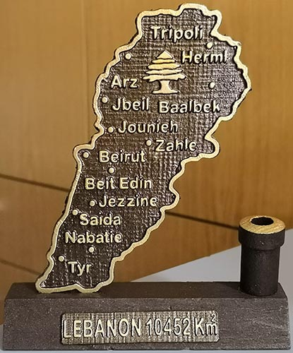 Stand of Map of Lebanon