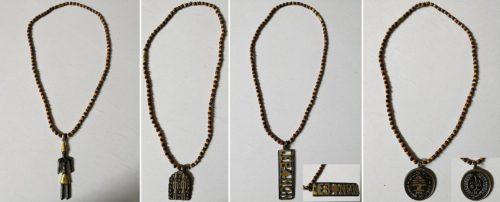 Wood & metal pendants - Lebanese and Phoenician emblems