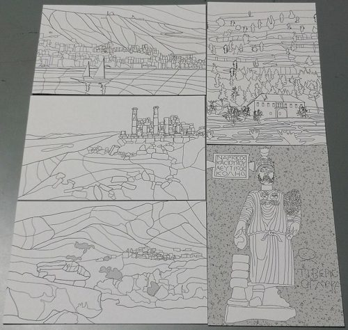 Color my own Lebanon Postcards