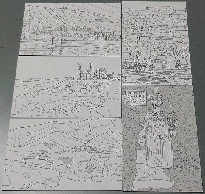 Color my own Lebanon Postcards