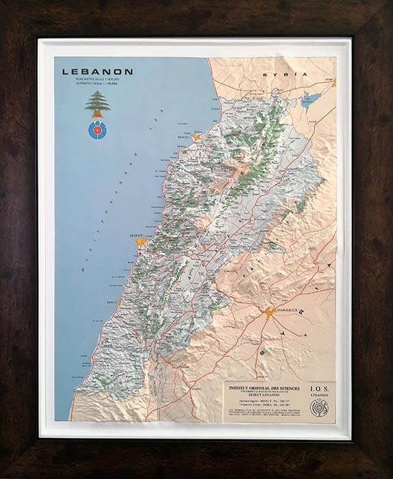 3d map of Lebanon