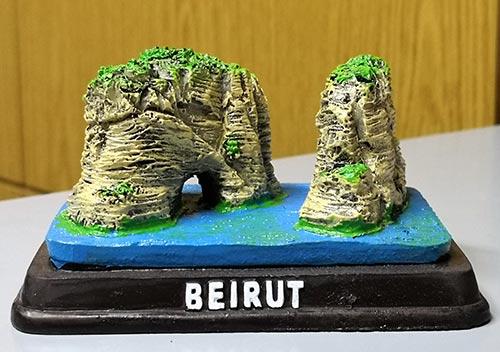 Sculpture of touristic Beirut