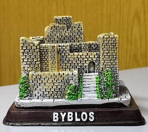 Sculpture of touristic Byblos
