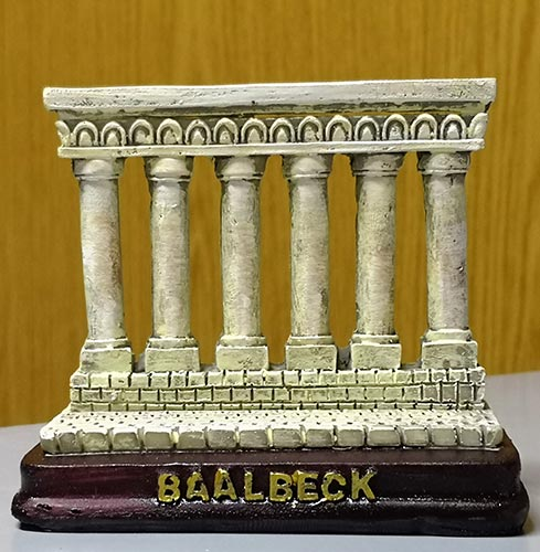 Sculpture of touristic Baalbeck