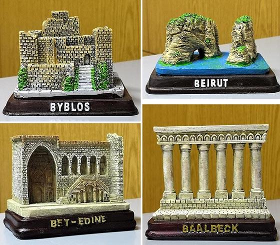 Sculpture of touristic places in Lebanon
