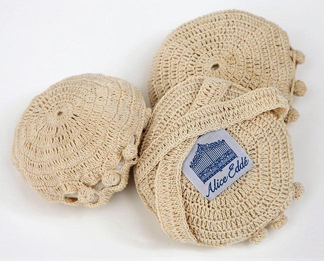 Hand crochet pouch loofa