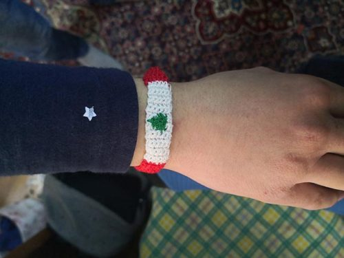 Handmade band weaving crochet wrist